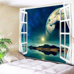 Window Planet Island Pattern Wall Tapestry