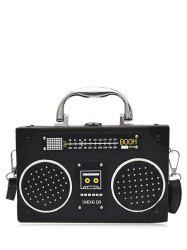 Radio Shaped Faux Leather Crossbody Bag -