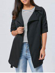 Lapel Long Wrap Coat