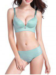 Daily Striped Seamless Bra Set