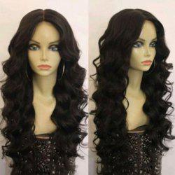Long Middle Part Shaggy Loose Wave Synthetic Wig - BLACK