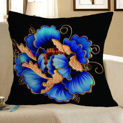 Floral Pattern Square Decorative Pillow Case - COLORFUL