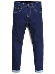 Tapered Fit Zip Fly Basic Jeans