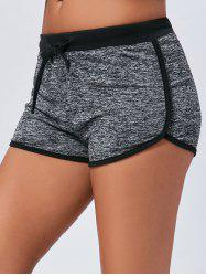 Track Mini Two Tone Drawstring Shorts - DEEP GRAY