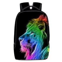 Colorful Lion Printed Backpack