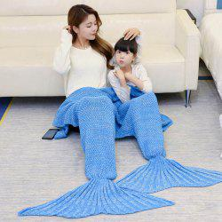 Crocheted Mother and Daughter Mermaid Blanket