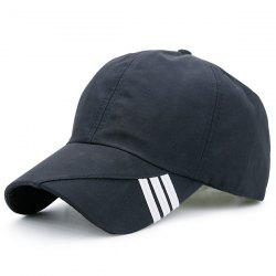 Diagonal Striped Embellished Baseball Cap