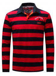 Stripe Anchor Embroidered Long Sleeve T-shirt