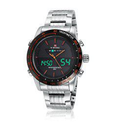 NAVIFORCE 9024 Tachymeter Luminous Quartz Digital Watch