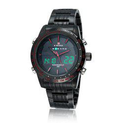 NAVIFORCE 9024 Luminous Tachymeter Analog Digital Watch