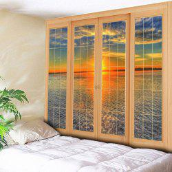 Wall Hanging Window Tapis d'impression de mer - Multicolore Largeur 79pouces*Longeur 59pouces