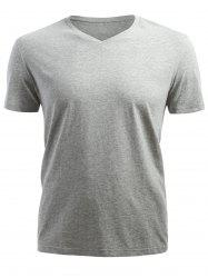 Short Sleeved V Neck T-shirt -