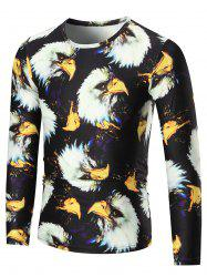 3D Eagle Print Long Sleeve T-shirt
