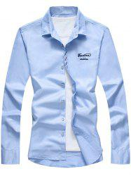 Long Sleeve Button Down Embroidery Shirt -