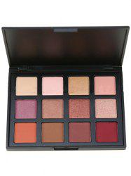 12 Colors Earth Tone Shimmer Eyeshadow Cosmetic Palette - MULTI