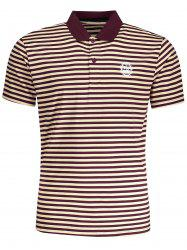 Striped Mens Polo T-shirt