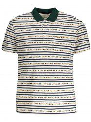 Striped Pocket Mens Polo Shirt