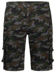 Pockets Camo Cargo Shorts -