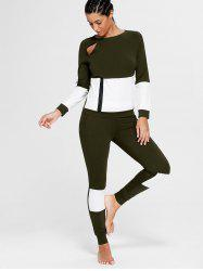 Color Block Zip Sweatshirt et Skinny Sports Joggers -