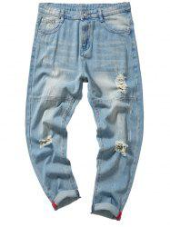 Light Wash Ripped Nine Minutes of Jeans -