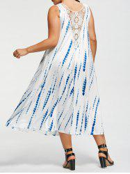 Plus Size Sleeveless Tie-Dyed Maxi Dress -