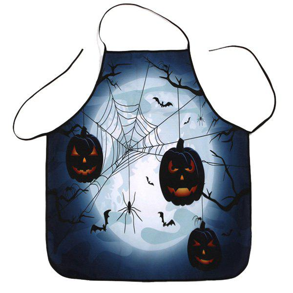 Trendy Household Fabric Halloween Cooking Apron