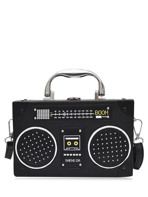 Shop Radio Shaped Faux Leather Crossbody Bag