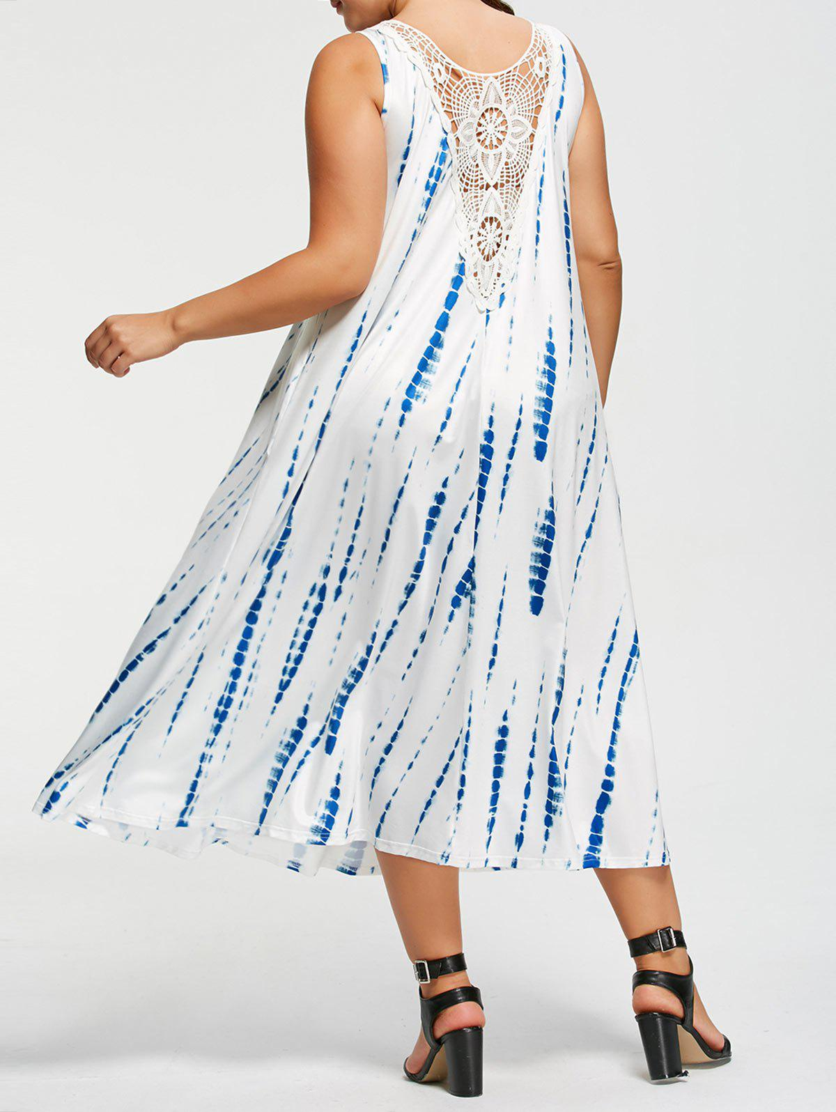 Fashion Plus Size Sleeveless Tie-Dyed Maxi Dress