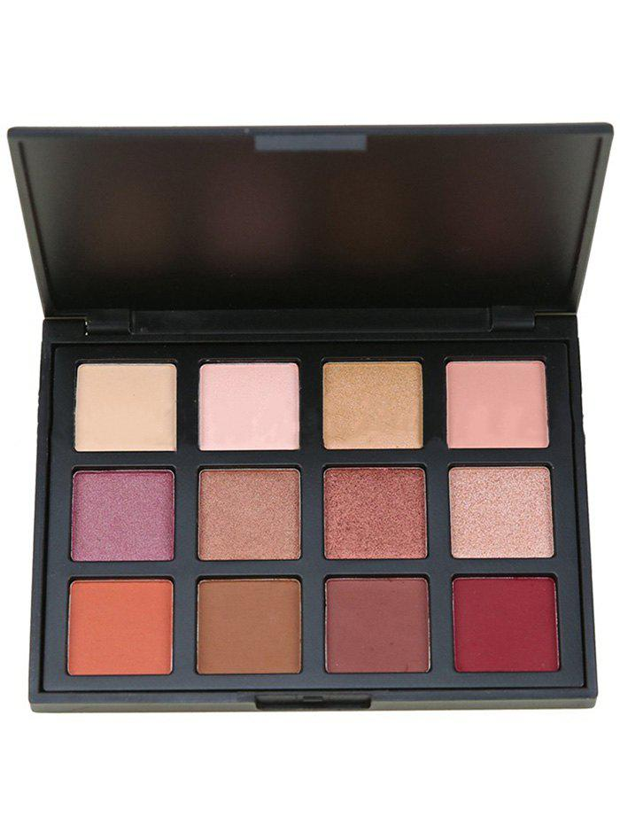 12 Colors Earth Tone Shimmer Eyeshadow Cosmetic PaletteBEAUTY<br><br>Color: MULTI; Category: Shadow; Type: Powder; Season: Fall,Spring,Summer,Winter; Length(CM): 12.8CM; Width(CM): 10.3CM; Height(CM): 1.8CM; Weight: 0.1500kg; Package Contents: 1 x Eyeshadow Palette;