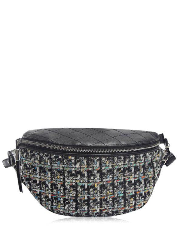 Hot Plaid Pattern Quilted Chain Crossbody Bag