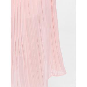 Pleated Wide Leg Plus Size Pants - LIGHT PINK 2XL