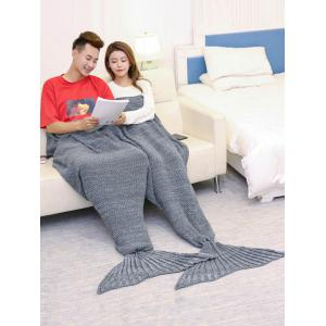 Super Soft Knitted Mermaid Blanket For Lovers - Gris 180*155CM