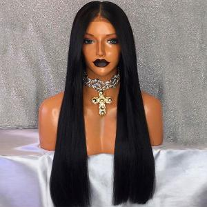 Free Part Long Straight Lace Front Human Hair Wig -
