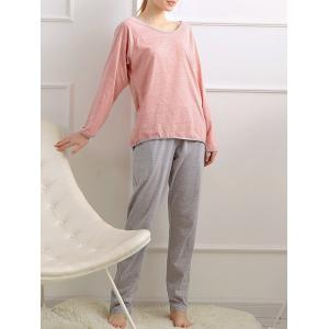 Casual Long Sleeves Pajamas Set