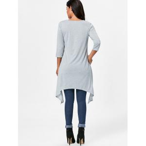 High Low Asymmetric Long Sleeve T-shirt -
