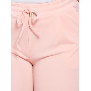 Plus Size Drawstring Waist Skinny Pants -