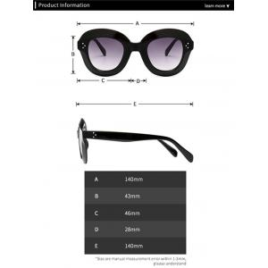 Ombre Wide Frame Street Snap Sunglasses - BLACK