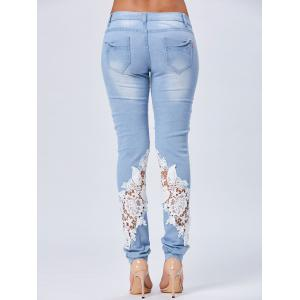 Lace Insert Staright Jeans -