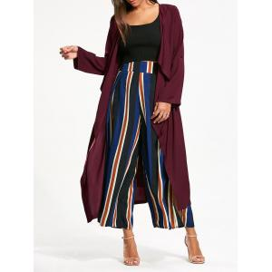 Split Back Longline Waterfall Coat