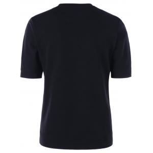 Crew Neck Slim Basic T-shirt - BLACK L