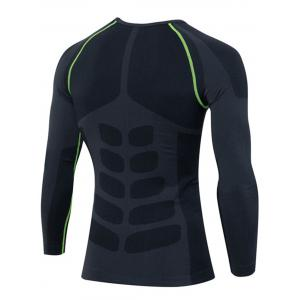 Quick Dry Stretchy Long Sleeve T-shirt - GREEN L