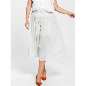 Pleated Wide Leg Plus Size Pants