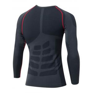 Quick Dry Stretchy Long Sleeve T-shirt - RED M