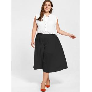 Pleated Wide Leg Plus Size Pants -