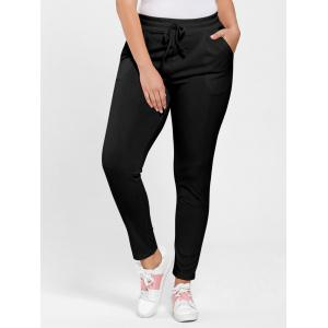 Plus Size Drawstring Waist Skinny Pants