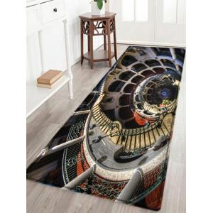 European Style Building Print Anti-skid Water Absorption Area Rug