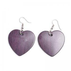 Vintage Heart Drop Hook Earrings