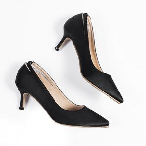 Stiletto Heel Slingback Pumps - Black - 39