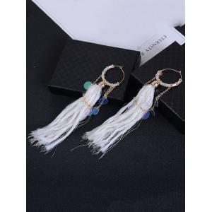 Link Chain Round Piece Fringe Drop Earrings