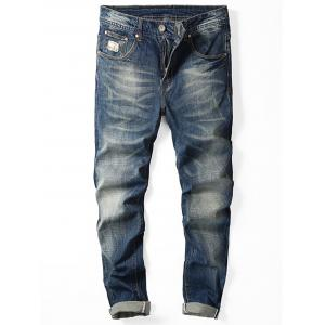 Zipper Fly Slim Fit Jeans